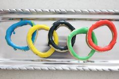 olympic rings cookies how-to/recipe