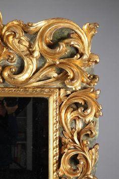 18th Century Italian Large Giltwood Mirror
