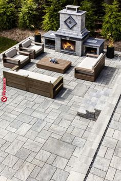 ✔ 60 small paver patio ideas pictures with fire pit 9 Design Patio, Backyard Patio Designs, Outdoor Kitchen Design, Backyard Landscaping, Patio Ideas, Landscaping Ideas, Garden Design, Firepit Ideas, Pergola Ideas