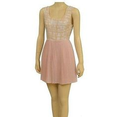 Finders Keepers Fd120205D Pleated Cocktail Womens Dresses Sand 6 ~