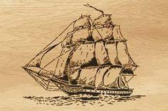 Scroll saw pattern  008 ship