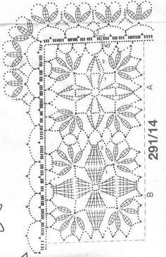 ideas for crochet table runner diagram articles Crochet Table Runner Pattern, Crochet Motif Patterns, Crochet Tablecloth, Crochet Squares, Filet Crochet, Crochet Chart, Crochet Bedspread, Crochet Curtains, Diy Crafts Crochet
