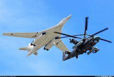 Tu-160 and Ka-52