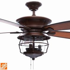 Aged Walnut Indoor/Outdoor Ceiling Fan 7800000   The Home Depot