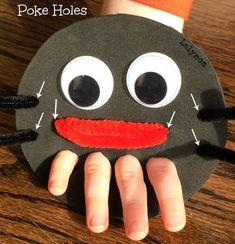 Eensie Weensie Spider Hand Puppet for FInger Articulation from Lalymom