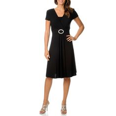 R & M Richards Women's Buckle Dress - Overstock™ Shopping - Top Rated R & M Richards Casual Dresses