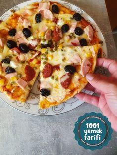 Tavada Kolay Pizza Tarifi: Evde Pizza Hamuru ve Sosu Nasıl Yapılır? - (yapımı, kalorisi) - 1001YemekTarifi Hawaiian Pizza, Food, Essen, Meals, Yemek, Eten