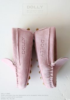 DOLLY by Le Petit Tom ® BABY MOCCASIN 3MO pink suede
