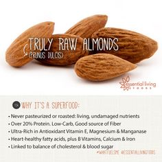 Unpasteurized Raw Almonds Italy Spain Essential Living Foods