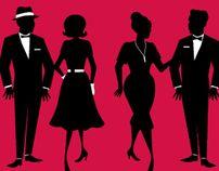 Mad Men Holiday Party Invitation by Katie Limburg, via Behance