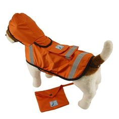 One for Pets Safety Hooded Raincoats, 12-Inch, Orange Red >>> You can find more details by visiting the image link. (This is an affiliate link and I receive a commission for the sales)