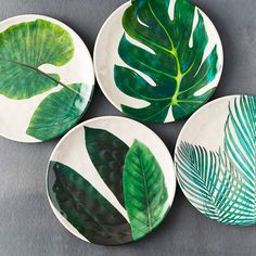 Instead of disposable paper or plastic plates, elevate your next outdoor dinner . Instead of disposable paper or plastic plates, elevate your next outdoor dinner party with unbreaka Painted Plates, Ceramic Plates, Ceramic Pottery, Clay Plates, Decorative Plates, Painted Pottery, Pottery Plates, Slab Pottery, Hand Painted Ceramics