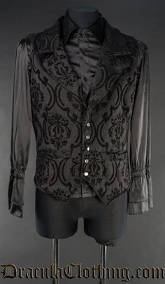 Black Brocade Waistcoat - just the vest, not the shirt.