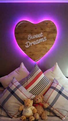 Valentines day Surprise! Handmade Wooden LED heart #led #diy #heart #recycled #handwritten #agedwood #wood #bedroom #valentines #day #surprise