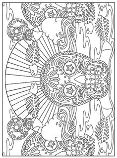 creative haven day of the dead coloring book dover publications sample page