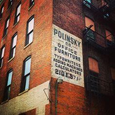 Polinsky Co. Office Furniture ghost sign, Cincinnati, Ohio