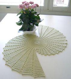 pineapple table runner crochet pattern | Table runner - need help