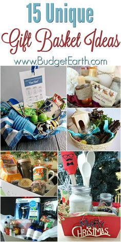 15 Unique Gift Basket Ideas Looking for some unique gift ideas? Check out our list of 15 Unique Gift Basket Ideas here! Homemade Gift Baskets, Diy Gift Baskets, Christmas Gift Baskets, Homemade Christmas Gifts, Homemade Gifts, Basket Gift, Creative Gift Baskets, Gift Baskets For Women, Gift Baskets For Families