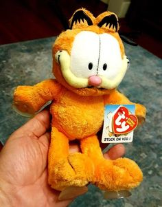 GARFIELD Cat Stuck On You TY Beanie Babies with TAGS and Suction Cups (2006) 06ddf519c862
