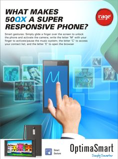 OPS 50QX- A Super Responsive Phone with Smart Gestures!  #OptimaSmart #SmartPhone #RageMobiles   Know more: http://goo.gl/usOALk