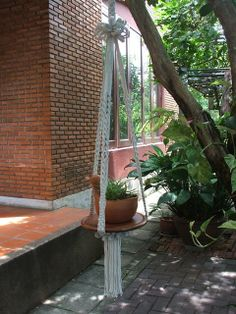 Macrame Plant Hanger  Lofty by handiworkclub on Etsy, $42.00