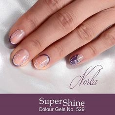 Nail design with Moyra SuperShine colour gel No. 529 #nailart #moyra #supershine #colourgel #gel
