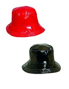 Dorfman Pacific Women's Reversible Polka Dot Bucket Rain Hat (Pack of 2)