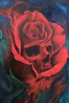 skull rose #unique_tattoo_skull