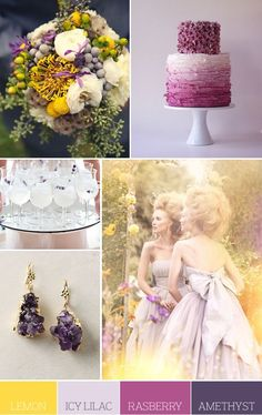 champagne, gold, eggplant and lavender bouquet - Google Search