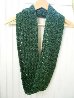 Wrap up with this long crochet infinity scarf and turn it into a soft comfortable neck cowl. This beautiful scarf has different textures on each