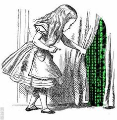 Alice thought she was in Wonderland, but then she discovered she'd always been in the Matrix...