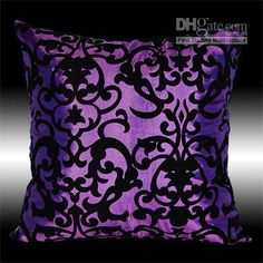purple damash pillow
