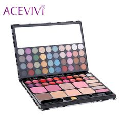 72 Cores Professional Makeup Palette Eyeshadow Lip Gloss Blush Set Leopard Pacote Cosméticos Make Up Kit Palette