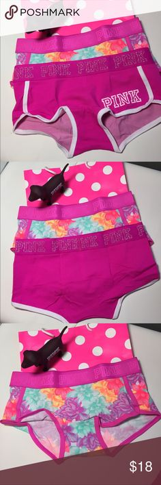 4558852e447 Bundle NWT VS PINK logo BoyShorts Small New with Tags Victoria Secret Pink  Logo BoyShorts size