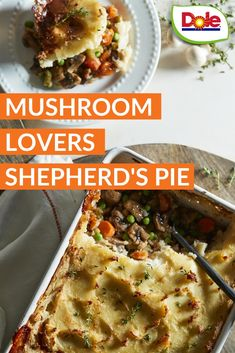 Get with this easy-as-pie Shepherd's Pie recipe – so good it may actually be the one thing people remember that day. Veggie Dishes, Veggie Recipes, Beef Recipes, Vegetarian Recipes, Dinner Recipes, Cooking Recipes, Healthy Recipes, Delicious Recipes, Mushrooms