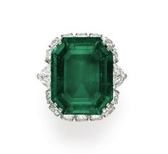 Bulgari emerald ring, estimate $600,000-$800,000	Bulgari emerald pendent, estimate $500,000-$700,000 (from Christie's, Copyright 2011, Christie's Images, LTD)