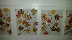 Twigs with fake leaves glued around. Could also use real leaves.