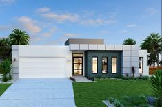 Seacrest 291 - Element, Home Designs in Gladstone Contemporary House Plans, Modern House Design, Facade Design, Exterior Design, House Wash, House Removals, Home Building Design, Facade House, Modern Exterior