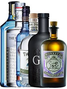 Hersteller: Diverse The Bombay Spirits Company, Bruichladdich, The Duke Destillery, Ferrand, Gansloser, Black Forest Distillers Abfüller: Diverse Alkoholgehalt: 40 - 47 % Inhalt: 4,0 Liter 1 x Bombay Sapphire Gin 0,7 Liter, 1 x The Botanist Islay 0,7 Liter 1 x The Duke Dry BIO Gin 0,7 Liter 1 x Citadelle Gin 0,7 Liter 1 x Black Gin Gansloser 0,7 Liter 1 x Monkey 47 Schwarzwald Dry Gin 0,5 Liter Art: Gin