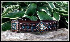 custom ordered turquoise dog collar