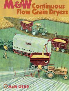 M & W Grain Dryers from Successful Farming, September Vintage Tractors, Vintage Farm, Grain Dryer, Successful Farming, Minneapolis Moline, Grain Storage, John Deere Equipment, Red Tractor, Toy Display