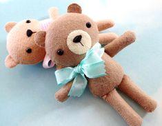 Bailey The Bear Felt Softie Sewing Pattern  di preciouspatterns