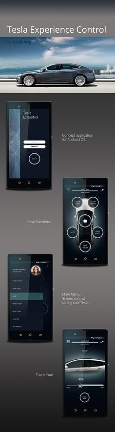 Tesla Concept App on Behance