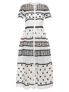 Lizette Organdy cotton and silk-blend dress | Temperley London | MATCHESFASHION.COM UK