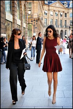 Giovanna Battaglia in Azzedine Alaia. My favorite dress #giovannabattaglia #azzedinealaia #reddress