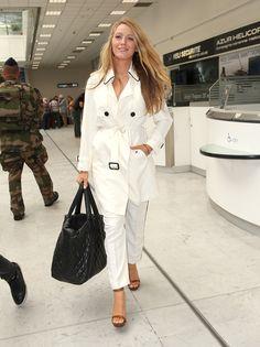 Blake Lively is so gorgeous, love this all white ensemble
