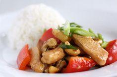Thailandsk kylling med cashewnødder | foodfanatics opskrifter