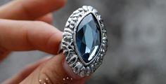 Sliver Color Vintage Moonstone Ring [491] | lkdress - Jewelry on ArtFire