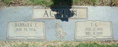 ACKLIN___TG Acklin (1931-1988) & Barbara () Acklin (1934-)