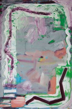 Stella Corkery: Untitled 99; oil on readymade canvas and stretcher, 610mm x 910mm